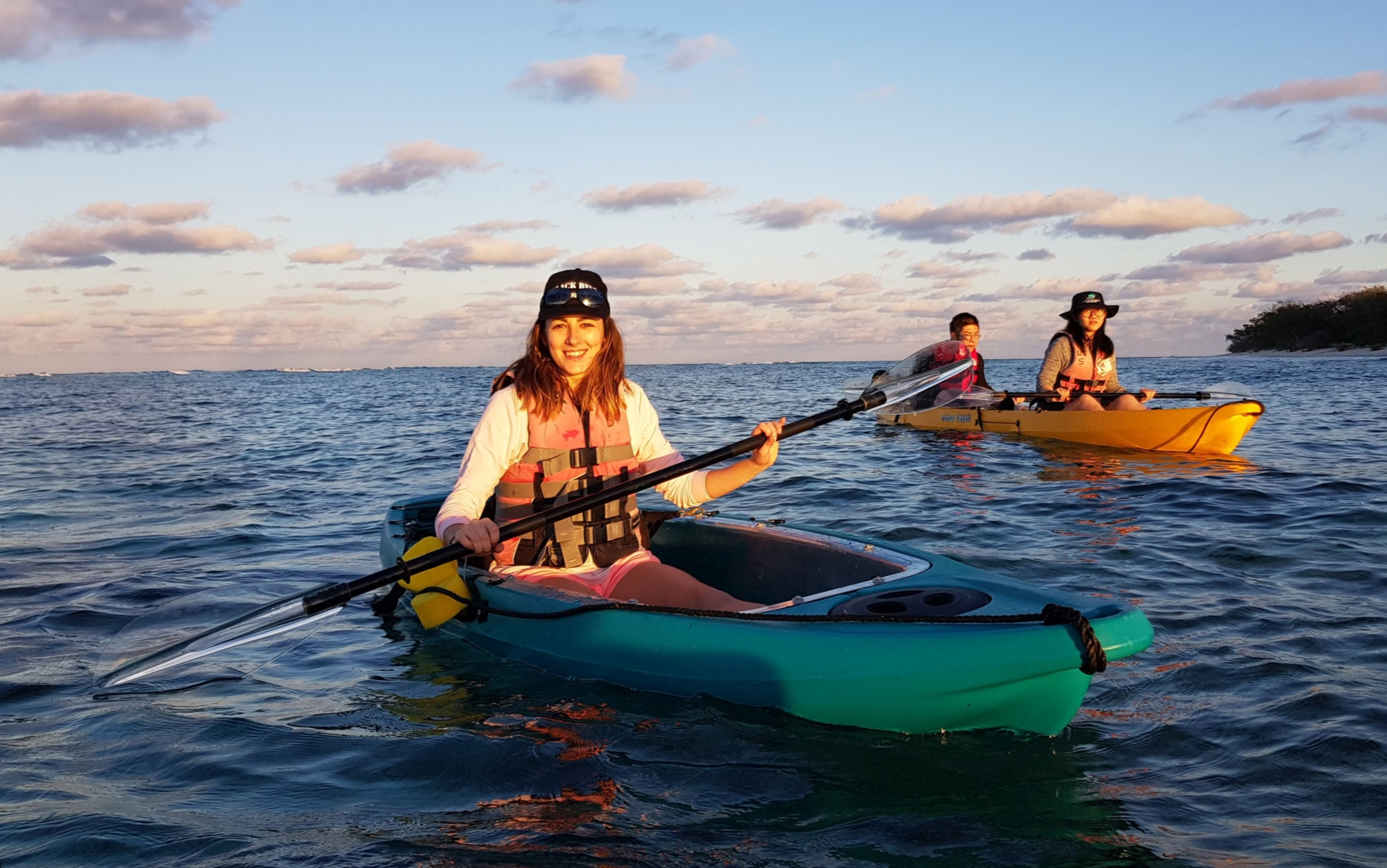 Kayaking on Lady Elliot Island