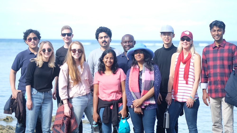 A group of eleven Global Change Scholars on Lady Elliot Island